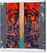 Color25 Monoprint Canvas Print