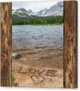 Colorado Love Window  Canvas Print