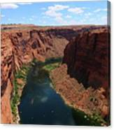 Colorado River At Glen Canyon Dam Canvas Print