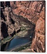 Colorado River Horseshoe Bend Color  Canvas Print