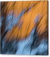 Colorado River Snow Banks Canvas Print
