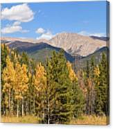 Colorado Rockies National Park Fall Foliage Panorama Canvas Print