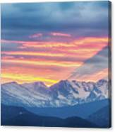Colorado Rocky Mountain Sunset Waves Of Light Part 1 Canvas Print