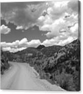 Colorado Shelf Road 1 B-w Canvas Print