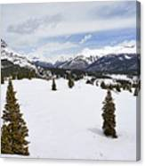 Colorado Snow Scene Canvas Print