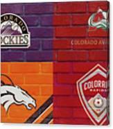 Colorado Sports Teams On Brick Canvas Print