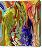 Colorburst Vase Canvas Print