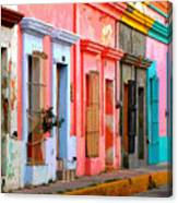 Colored Casas By Darian Day Canvas Print