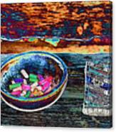 Colored Chalk Canvas Print