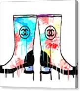 Colored Chanel Boots Canvas Print