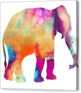 Colored Elephant Painting Canvas Print