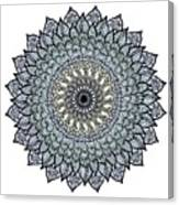 Colored Flower Zentangle Canvas Print