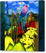 Colored Glass Plants Canvas Print