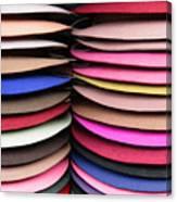 Colored Hat Brims Canvas Print