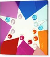Colored Plexiglas Shapes Canvas Print