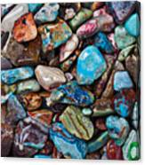 Colored Polished Stones Canvas Print