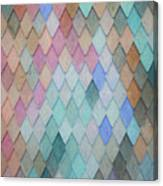 Colored Roof Tiles - Painting Canvas Print
