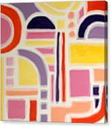 Colorful Abstract Art - Urban Maze Canvas Print