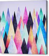 Colorful Abstract Geometric Triangle Peak Woods  Canvas Print