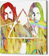 Colorful Abstract Pink Floyd Canvas Print