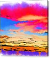 Colorful Abstract Sunset Canvas Print