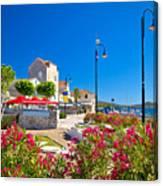 Colorful Adriatic Town Of Rogoznica Canvas Print