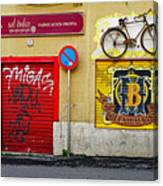 Colorful Advertising In Palma Majorca Spain Canvas Print