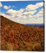 Colorful Autumn Panorama - West Virginia Canvas Print