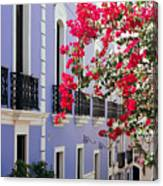 Colorful Balconies Of Old San Juan Puerto Rico Canvas Print