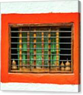 Colorful Bared Window Canvas Print