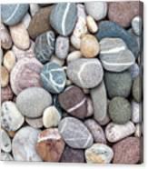 Colorful Beach Pebbles Canvas Print