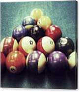Colorful Billiard Balls Canvas Print