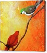 Colorful Bird Art Canvas Print