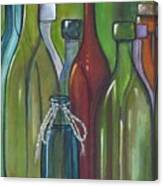 Colorful Bottles Canvas Print