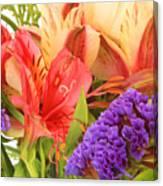 Colorful Bouquet Of Flowers Canvas Print