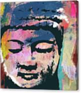 Colorful Buddha 1- Art By Linda Woods Canvas Print