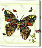 Colorful Butterfly Collage Canvas Print