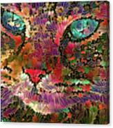 Flower Cat 1 Canvas Print