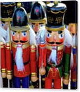 Colorful Christmas Nutcrackers Canvas Print
