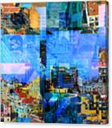 Colorful City Collage Canvas Print