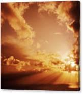 Colorful Cloudburst Canvas Print