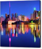 Colorful Cn Tower  Canvas Print