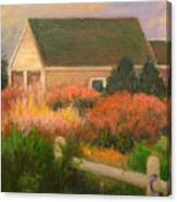 Colorful Cottage Cape Cod Canvas Print