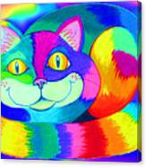 Colorful Crazy Cat Canvas Print
