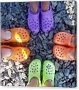 Colorful Crocs Canvas Print