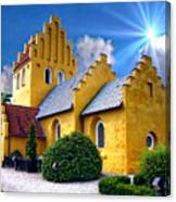 Colorful Danish Church Canvas Print