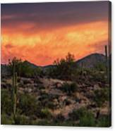 Colorful Desert Skies At Sunset  Canvas Print