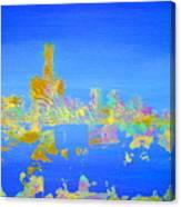 Colorful Detroit Skyline Canvas Print