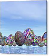 Colorful Eggs For Easter - 3d Render Canvas Print