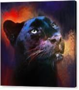 Colorful Expressions Black Leopard Canvas Print